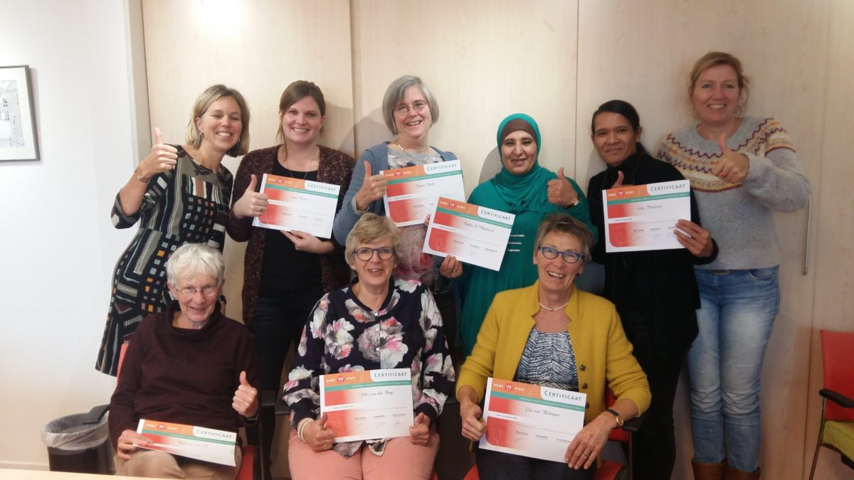 Certificaatuitreiking 10 November 2017 Vrijwilligers Home Start